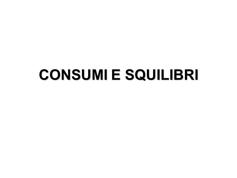 CONSUMI E SQUILIBRI