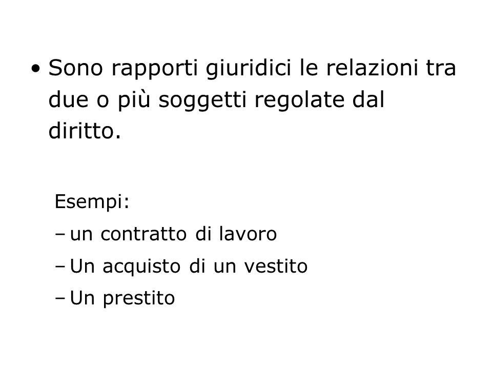 ELEMENTI COSTITUTIVI DEL RAPPORTO GIURIDICO 1.I SOGGETTI 2.IL CONTENUTO 3.LOGGETTO