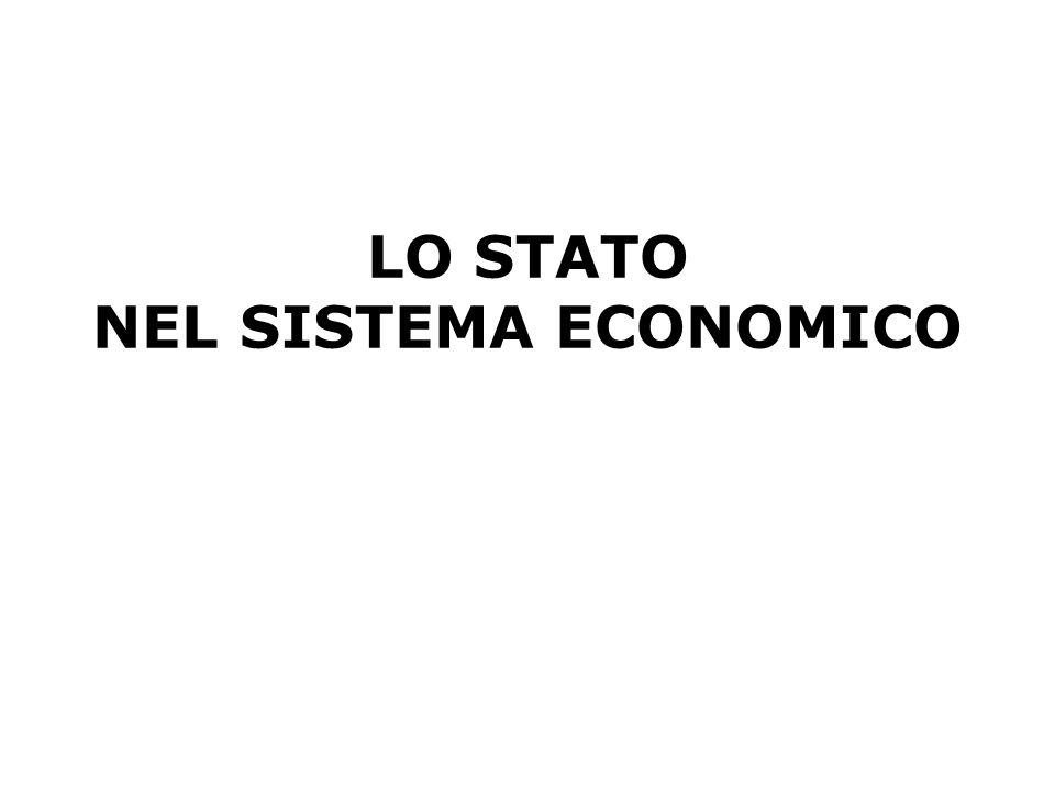 LO STATO NEL SISTEMA ECONOMICO