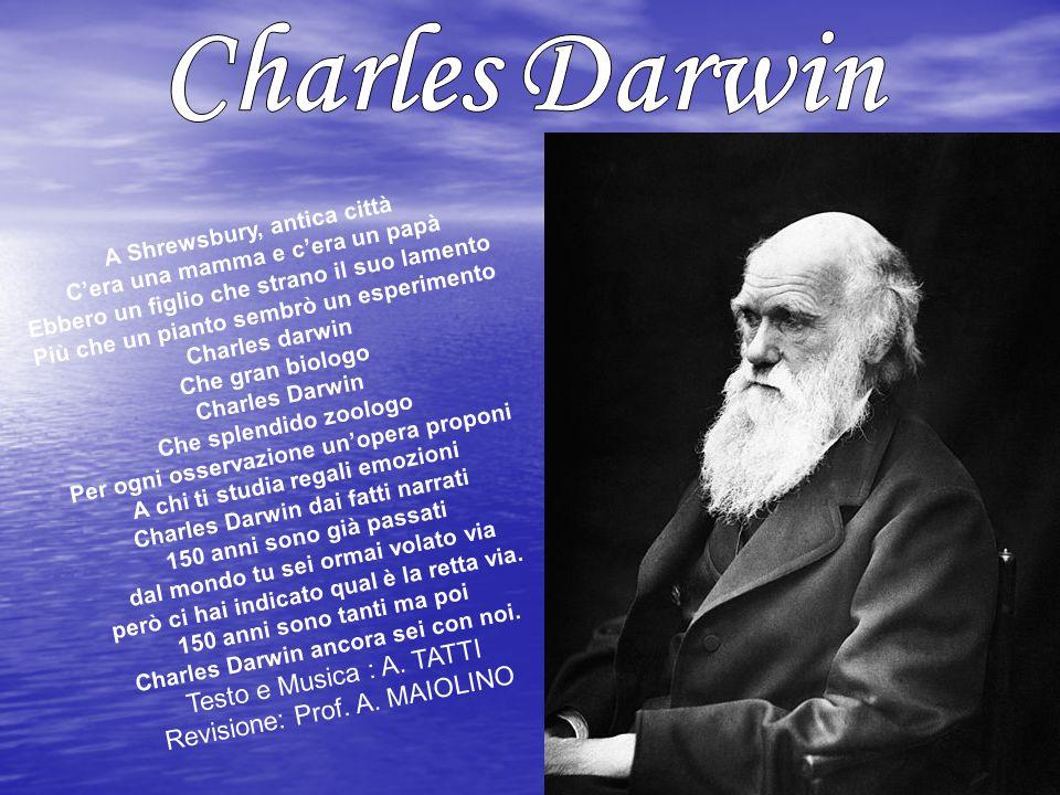 Charles Robert Darwin nacque a Shrewsbury (in Inghilterra) il 12 febbraio 1809, quinto dei sei figli di Robert Darwin, medico del paese con una positiva carriera professionale alle spalle, e Susannah Wedgwood.