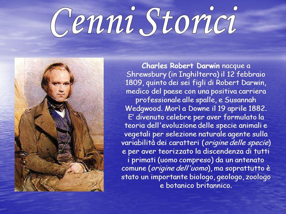 Charles Robert Darwin nacque a Shrewsbury (in Inghilterra) il 12 febbraio 1809, quinto dei sei figli di Robert Darwin, medico del paese con una positi
