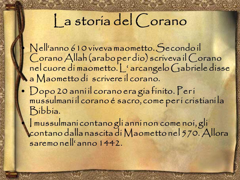 Il Corano Il Corano ha 114 capitoli, chiamati sure, di diversa importanza.