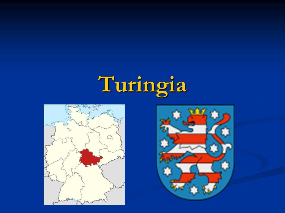 Dati generali Capoluogo: Erfurt Capoluogo: Erfurt CapoluogoErfurt CapoluogoErfurt Superficie: 16.172,10 km² Superficie: 16.172,10 km² Superficiekm² Superficiekm² Abitanti: 2.235.025 Abitanti: 2.235.025 Abitanti