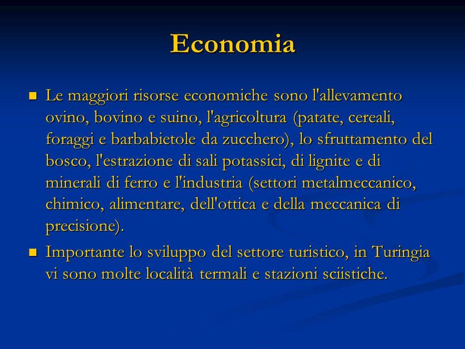 Economia Le maggiori risorse economiche sono l'allevamento ovino, bovino e suino, l'agricoltura (patate, cereali, foraggi e barbabietole da zucchero),