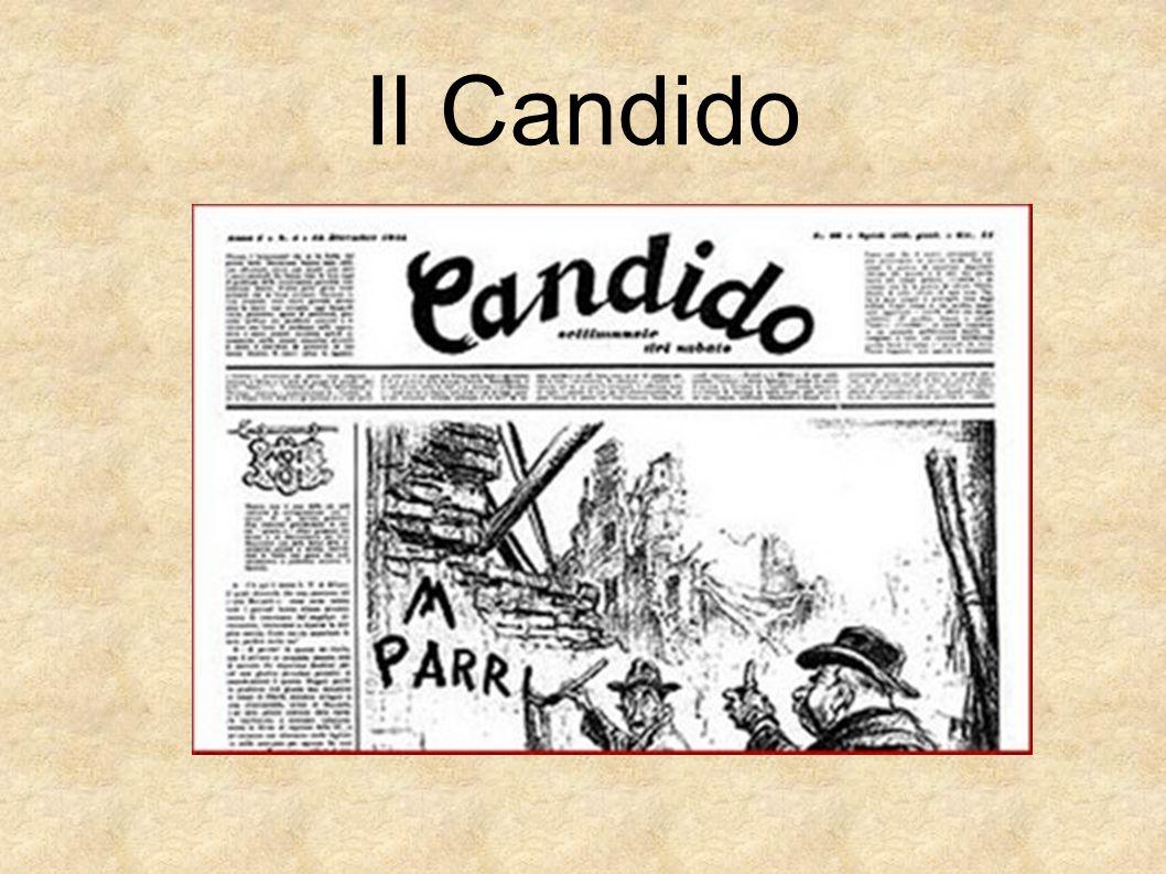 Dopo la seconda guerra mondiale, Guareschi fondò una rivista indipendente con simpatie monarchiche e lo chiamò il Candido Il Candido fu pubblicato dal 1945 fino alla sua morte, avvenuta a Cervia nel 1968.
