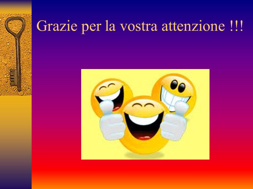Grazie per la vostra attenzione !!!