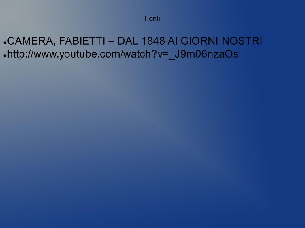 Fonti CAMERA, FABIETTI – DAL 1848 AI GIORNI NOSTRI http://www.youtube.com/watch?v=_J9m06nzaOs