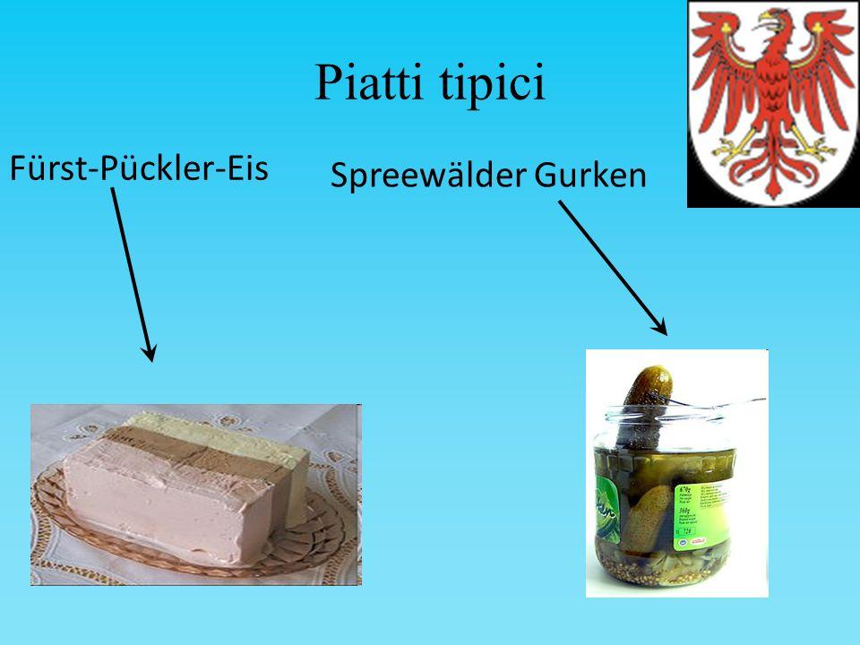Piatti tipici Fürst-Pückler-Eis Spreewälder Gurken