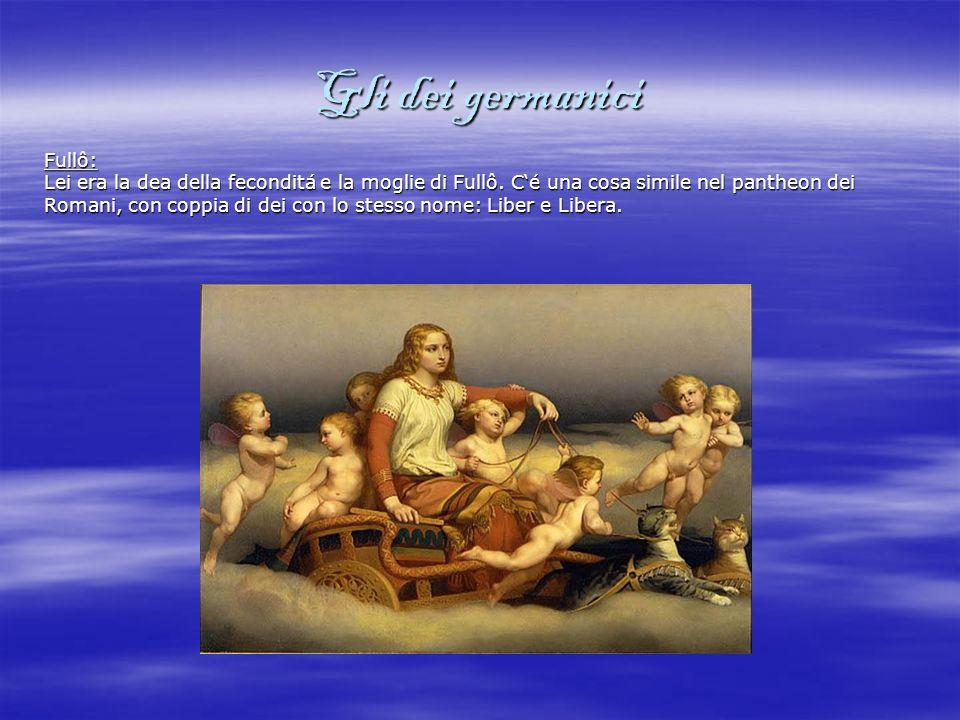 Gli dei germanici Þunraz: Lui era il dio del tuono ed era un dio molto aggressivo e forte.