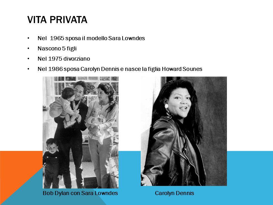 VITA PRIVATA Nel 1965 sposa il modello Sara Lowndes Nascono 5 figli Nel 1975 divorziano Nel 1986 sposa Carolyn Dennis e nasce la figlia Howard Sounes