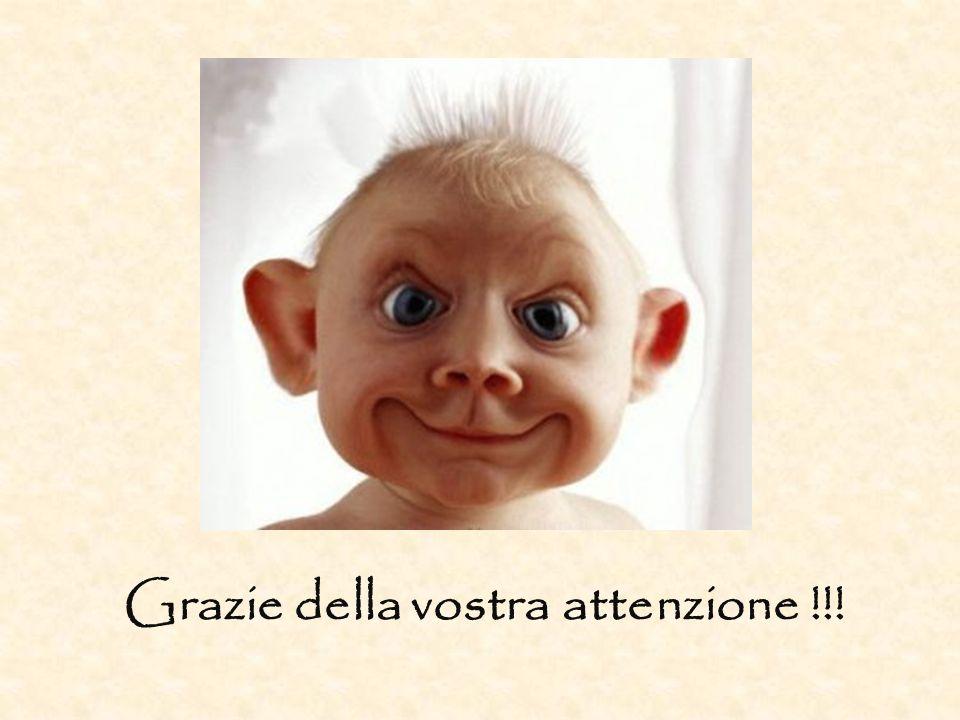 Grazie della vostra attenzione !!!