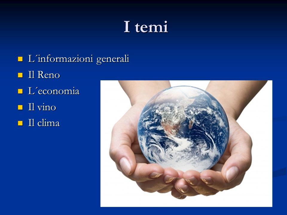 I temi I temi L´informazioni generali L´informazioni generali Il Reno Il Reno L´economia L´economia Il vino Il vino Il clima Il clima
