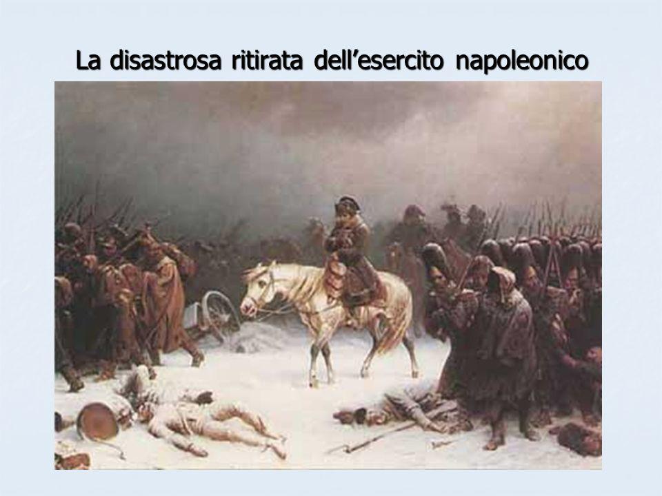 La disastrosa ritirata dellesercito napoleonico