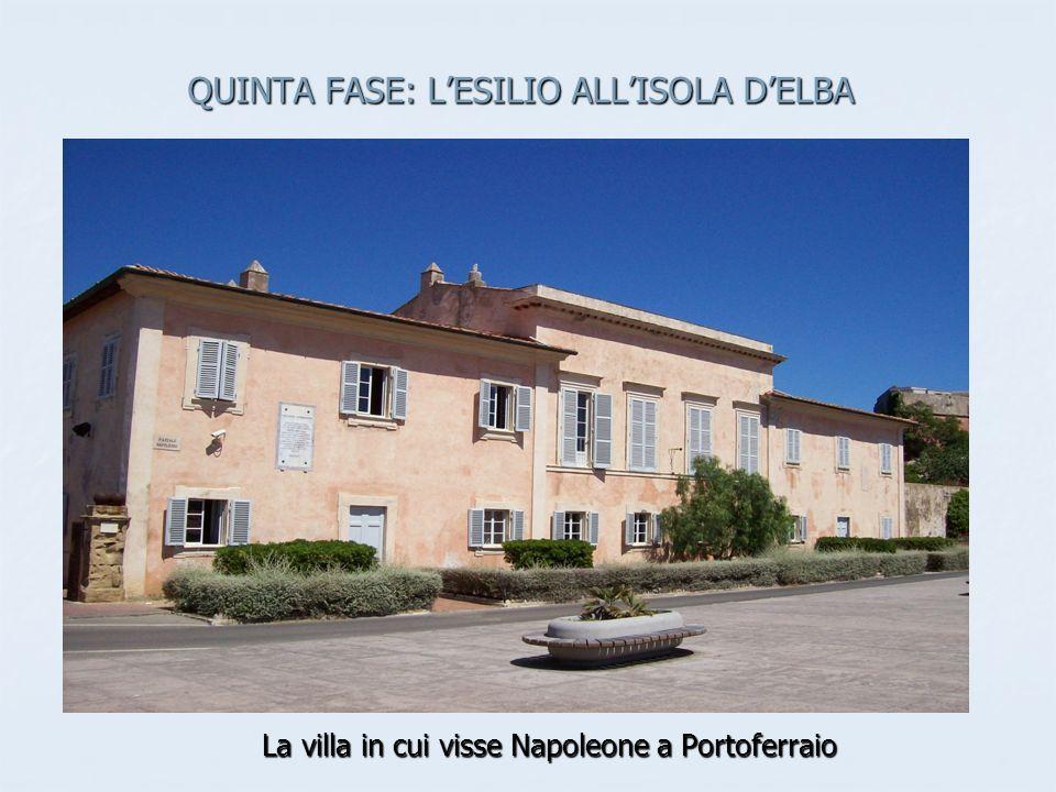 QUINTA FASE: LESILIO ALLISOLA DELBA La villa in cui visse Napoleone a Portoferraio