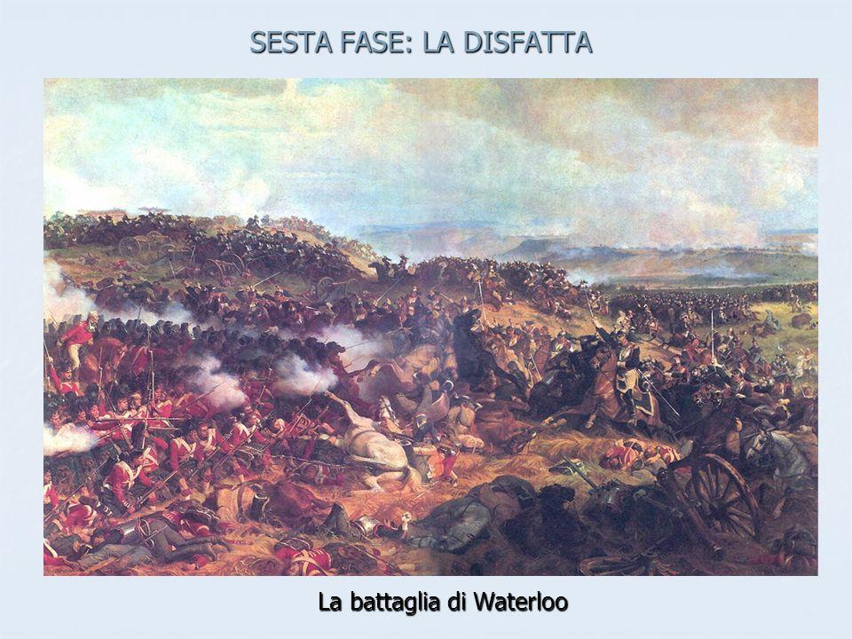 SESTA FASE: LA DISFATTA La battaglia di Waterloo