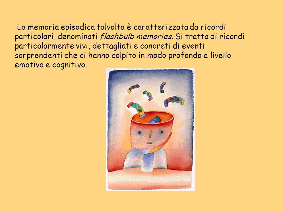 La memoria episodica talvolta è caratterizzata da ricordi particolari, denominati flashbulb memories. Si tratta di ricordi particolarmente vivi, detta