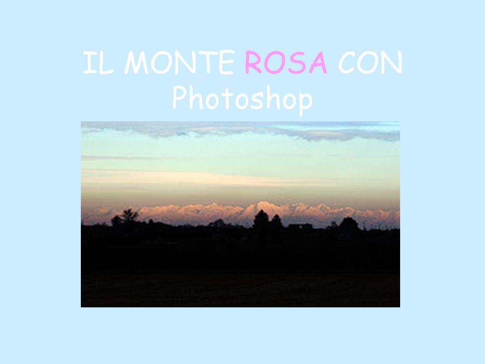 IL MONTE ROSA CON Photoshop