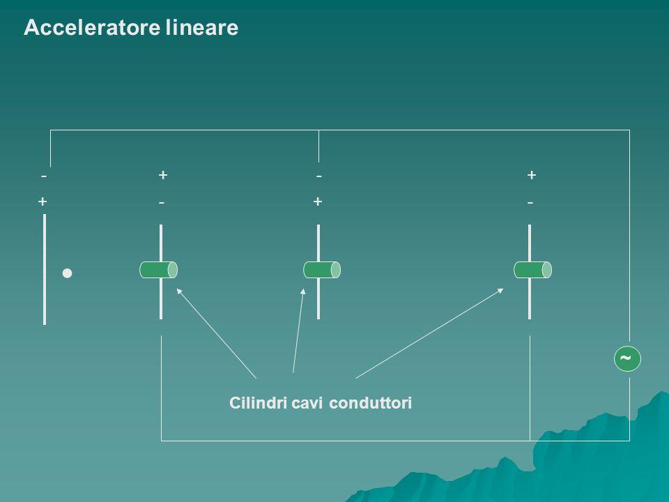 + - - + Cilindri cavi conduttori ~ Acceleratore lineare