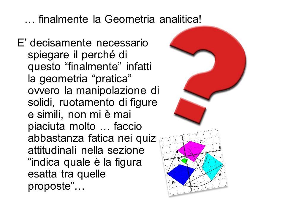 E decisamente necessario spiegare il perché di questo finalmente infatti la geometria pratica ovvero la manipolazione di solidi, ruotamento di figure