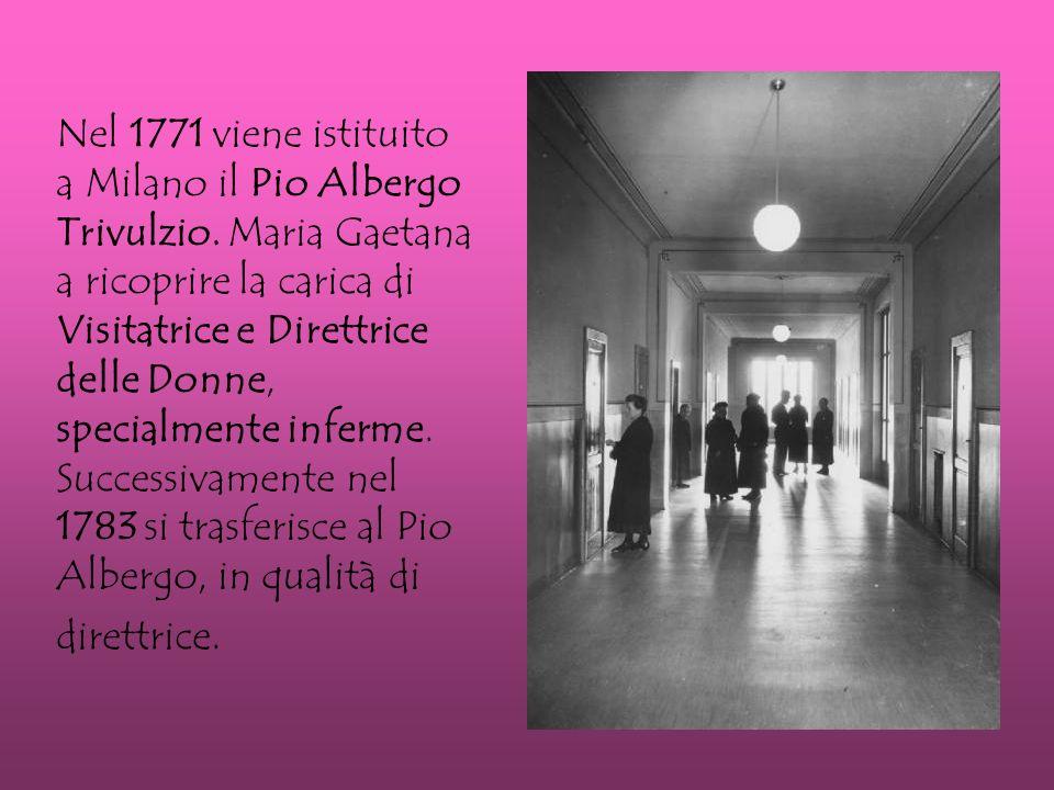 Nel 1771 viene istituito a Milano il Pio Albergo Trivulzio.