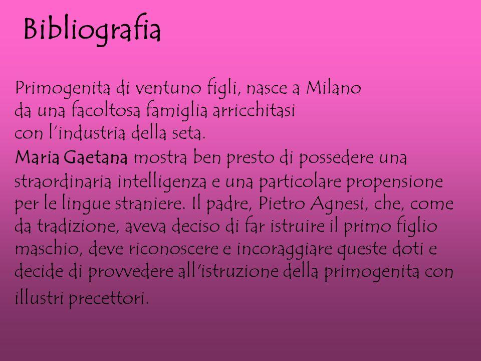 Primogenita di ventuno figli, nasce a Milano da una facoltosa famiglia arricchitasi con lindustria della seta.
