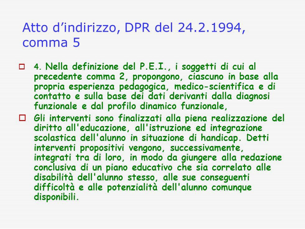 Atto dindirizzo, DPR del 24.2.1994, comma 5 4.