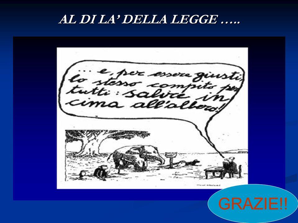 AL DI LA DELLA LEGGE ….. GRAZIE!!