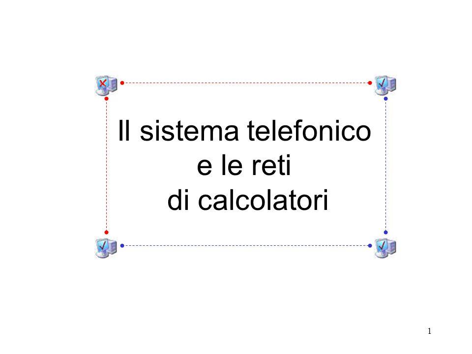 1 Il sistema telefonico e le reti di calcolatori