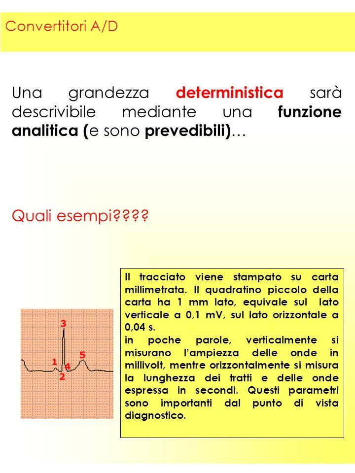 3 Una grandezza deterministica sarà descrivibile mediante una funzione analitica ( e sono prevedibili) … Quali esempi .