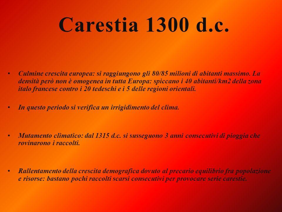 DIMINUZIONE DELLA TEMPERATURAE AUMENTO DELLA PIOVOSITA AUMENTO DELLA TEMPERATURA E DIMINUZIONE DELLA PIOVOSITA Dal III al VII secolo XIV secolo e prim