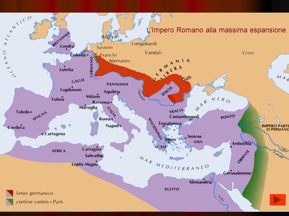 LImpero Romano alla massima espansione