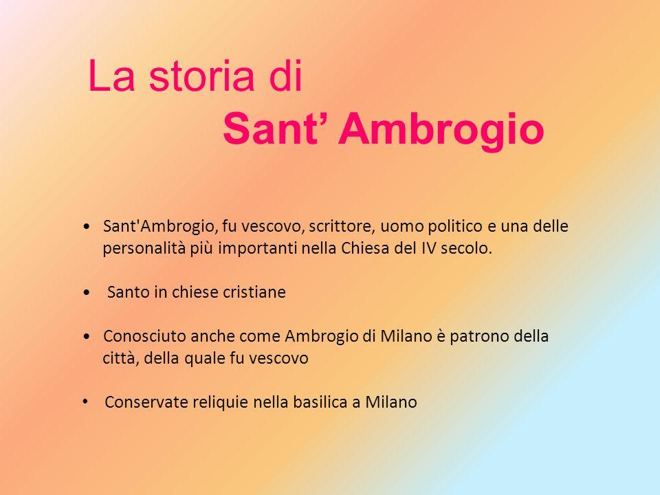 Sant'Ambrogio, fu vescovo, scrittore, uomo politico e una delle personalità più importanti nella Chiesa del IV secolo. Santo in chiese cristiane Conos