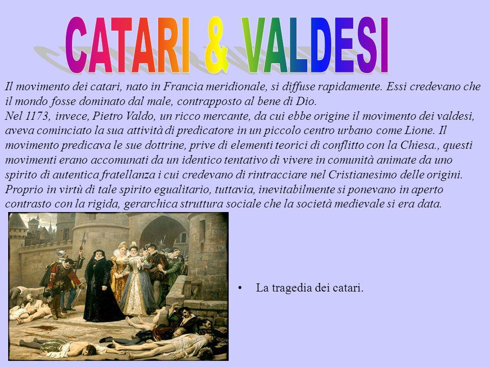 Nel 1208, il re di Francia scatenò una guerra contro i catari (o Albigesi).
