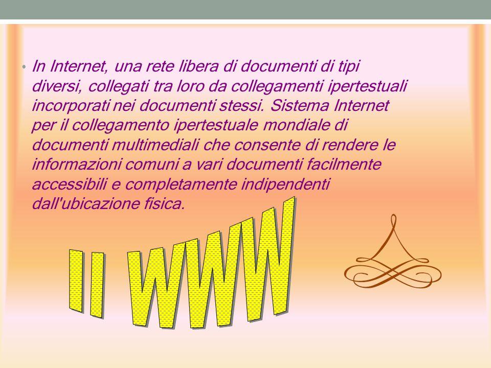 In Internet, una rete libera di documenti di tipi diversi, collegati tra loro da collegamenti ipertestuali incorporati nei documenti stessi.