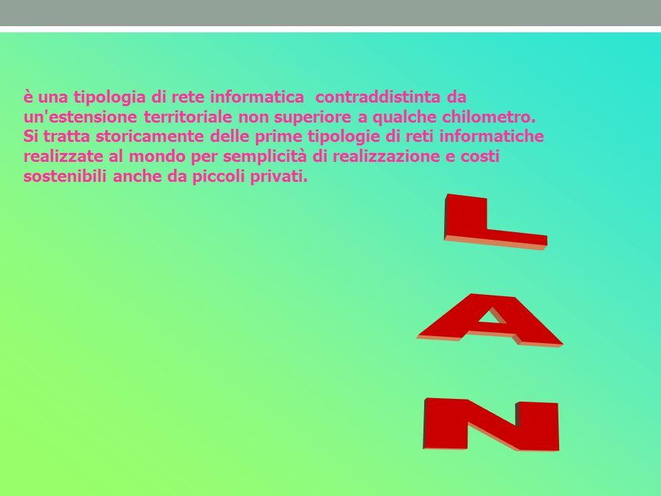 è una tipologia di rete informatica contraddistinta da un'estensione territoriale non superiore a qualche chilometro. Si tratta storicamente delle pri