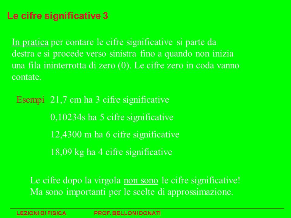 Le cifre significative 3 In pratica per contare le cifre significative si parte da destra e si procede verso sinistra fino a quando non inizia una fil