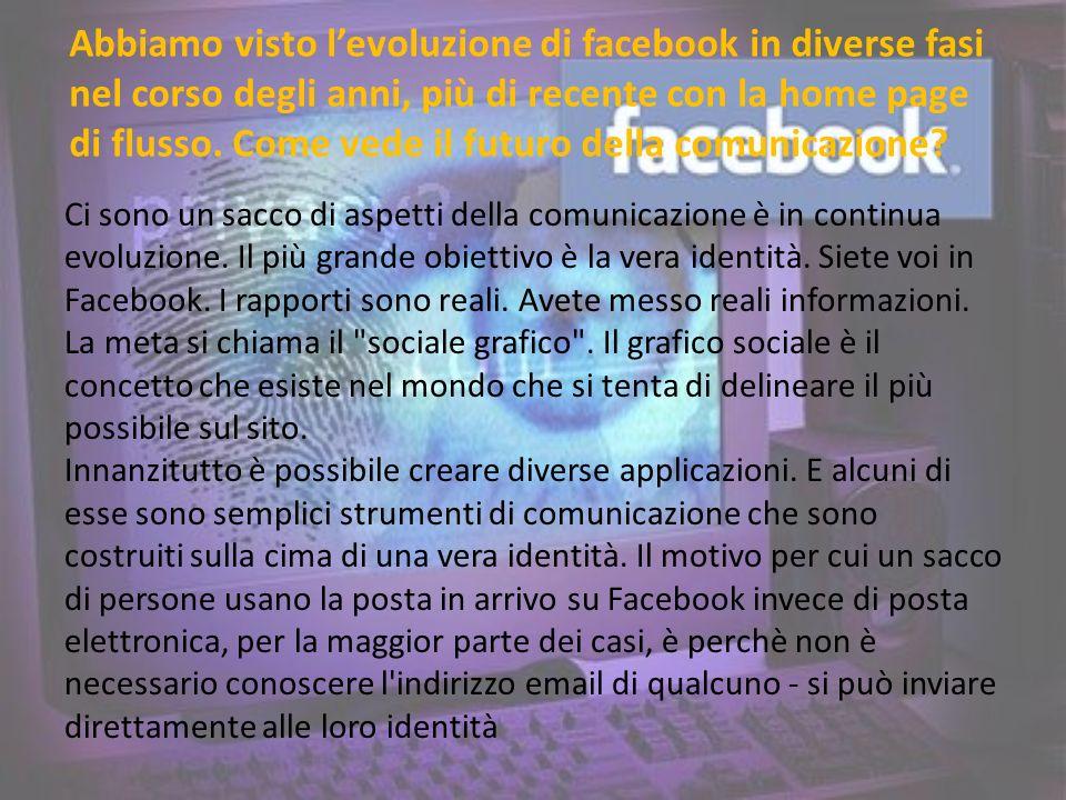 Abbiamo visto levoluzione di facebook in diverse fasi nel corso degli anni, più di recente con la home page di flusso.