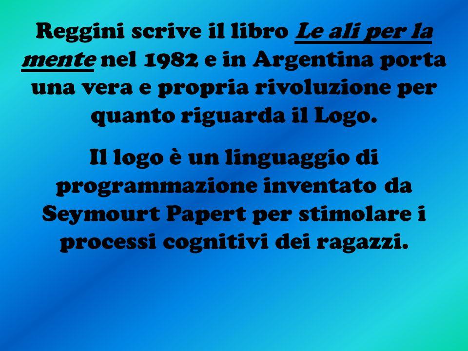 Reggini scrive il libro Le ali per la mente nel 1982 e in Argentina porta una vera e propria rivoluzione per quanto riguarda il Logo. Il logo è un lin