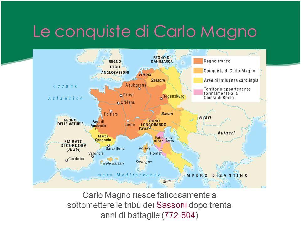 La posizione di Carlo Magno Nella sua politica espansionistica, Carlo Magno è sostenuto da due motivazioni ben precise.