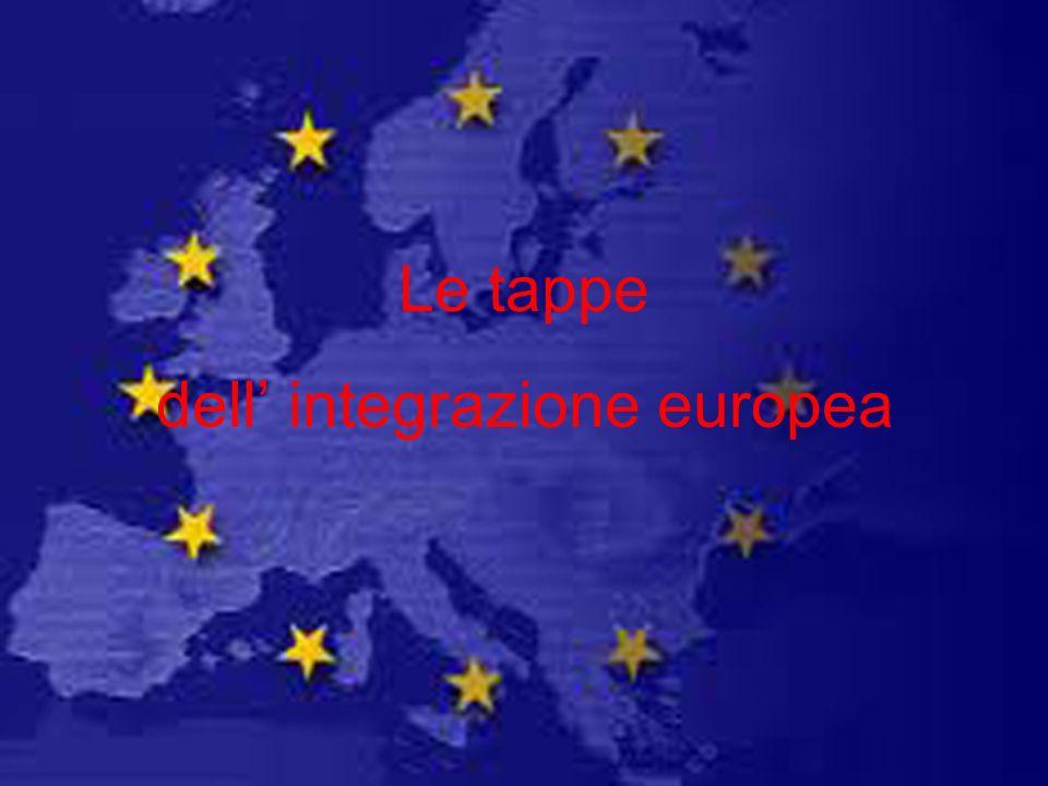 Le tappe dell integrazione europea