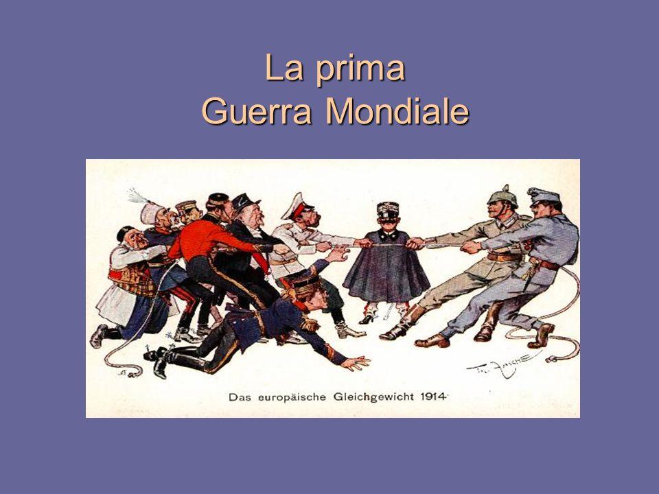 La Grande guerra LEuropa verso la guerra I principali fatti militari La rivoluzione in Russia e la nascita dellURSS