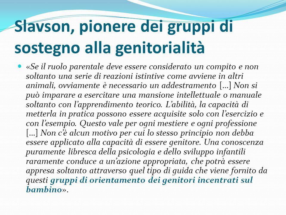 Slavson, pionere dei gruppi di sostegno alla genitorialità «Se il ruolo parentale deve essere considerato un compito e non soltanto una serie di reazi