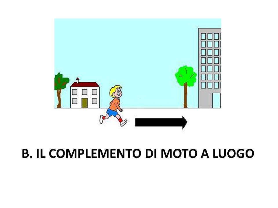 B. IL COMPLEMENTO DI MOTO A LUOGO