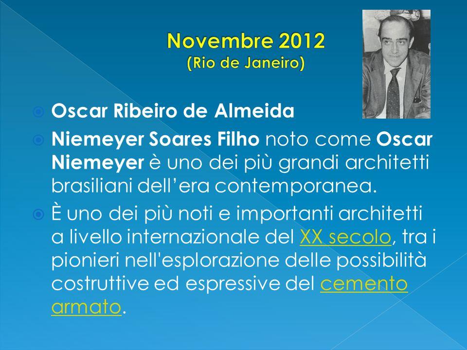Oscar Ribeiro de Almeida Niemeyer Soares Filho noto come Oscar Niemeyer è uno dei più grandi architetti brasiliani dellera contemporanea. È uno dei pi