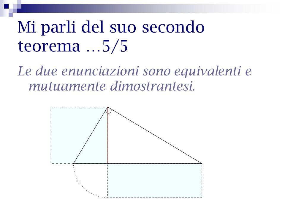 Mi parli del suo secondo teorema …5/5 Le due enunciazioni sono equivalenti e mutuamente dimostrantesi.