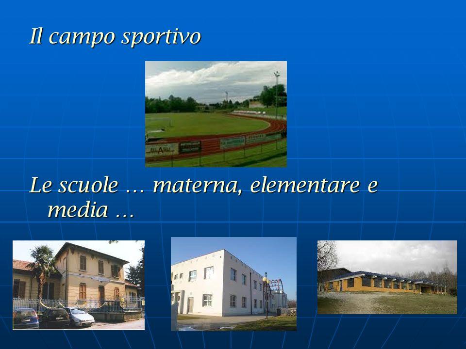 Il campo sportivo Le scuole … materna, elementare e media …