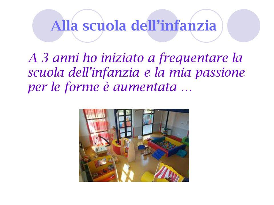 Alla scuola dellinfanzia A 3 anni ho iniziato a frequentare la scuola dellinfanzia e la mia passione per le forme è aumentata …