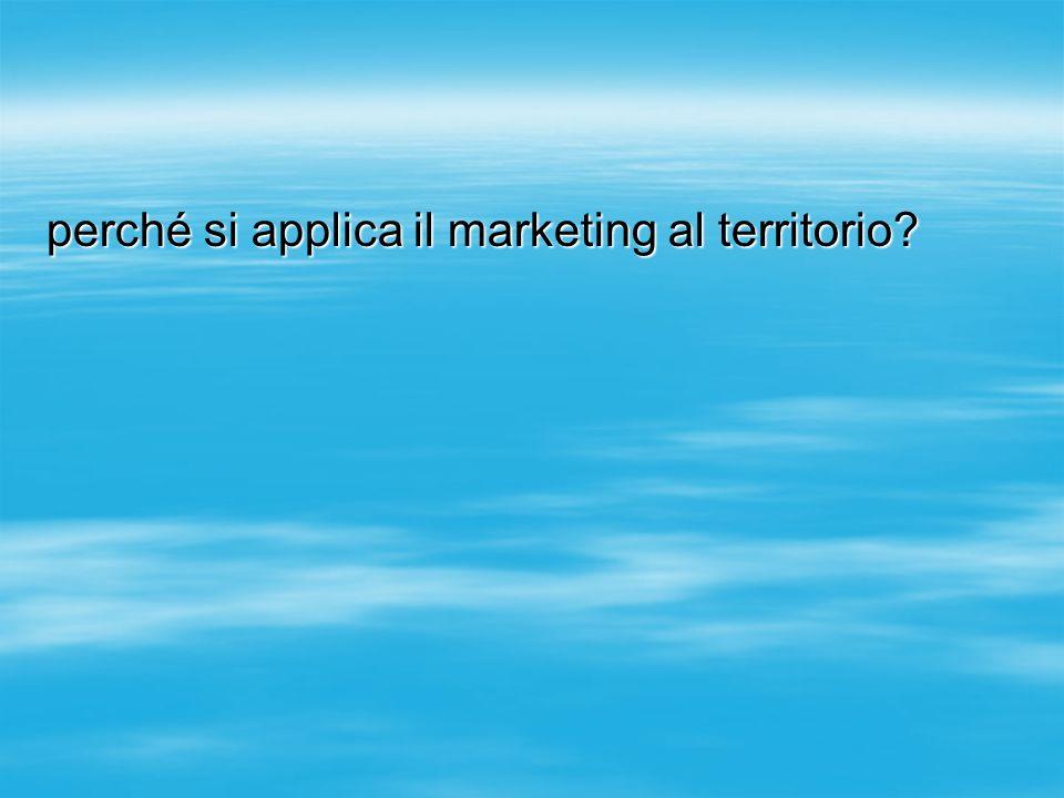 perché si applica il marketing al territorio?