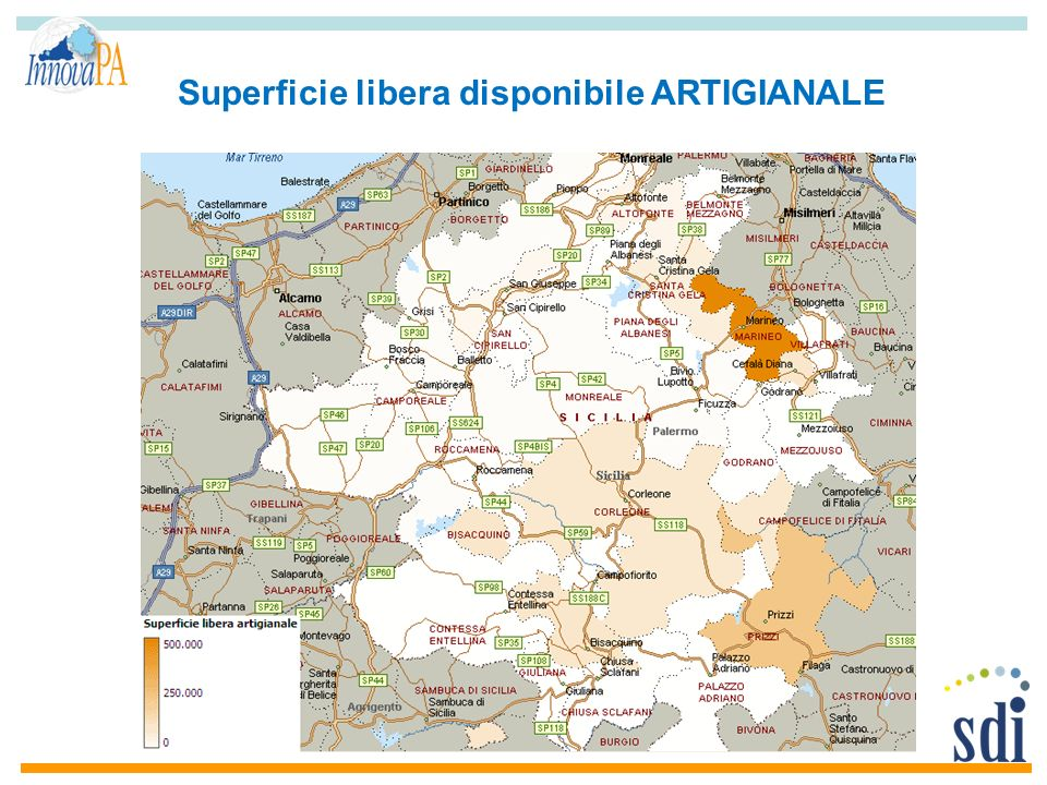 Superficie libera disponibile ARTIGIANALE