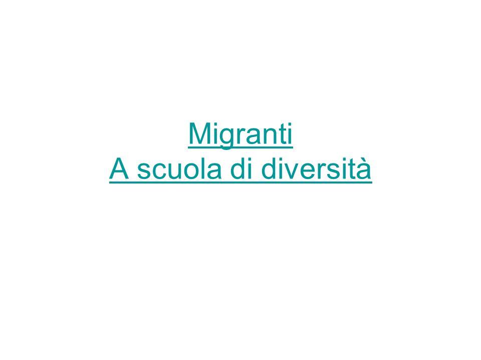 Migranti A scuola di diversità